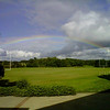 CPT Brooks Berry captured this rainbow image on his phone camera yesterday as the rain lifted and the clouds opened up.