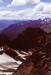 The view from the Glockner Ridge towards south, Kärnten Alps and Italy.
