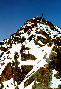 The main summit pyramid of the Grossglockner.