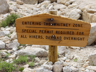 The Whitney Zone sign