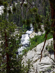 Whitney Portal waterfall from main trail