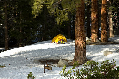Somebody is camping at Whitney Portal.