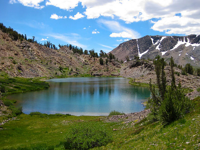 I don't know what is more beautiful, sky or water. Hummingbird Lake (el. 10,237 ft.).