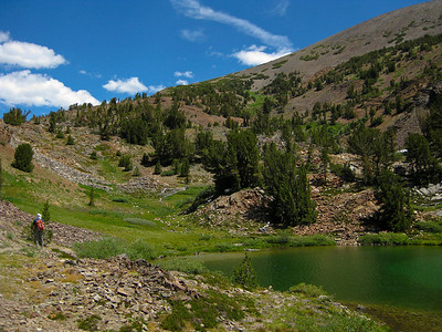 Approaching Hummingbird Lake (el. 10,237 ft.).