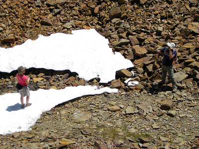 "Taking pictures on the Odell ""glacier""."