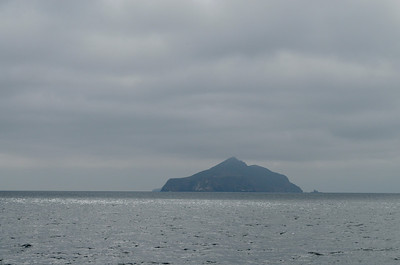 Anacapa Island under the clouds