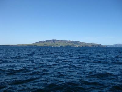 Approaching Santa Cruz Island, Channel Islands NP, CA