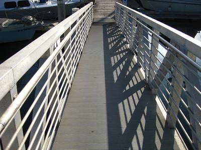 The bridge to the docks at Ventura Harbor