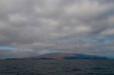 Approaching Santa Cruz Island (largest one in the group, Channel Islands NP)