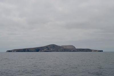 Santa Barbara Island, North Peak in the center, Signal Peak to the right