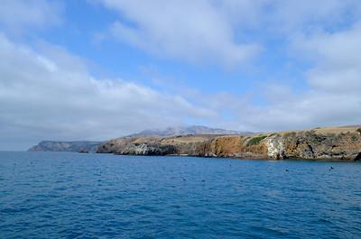 Leaving Santa Cruz Island