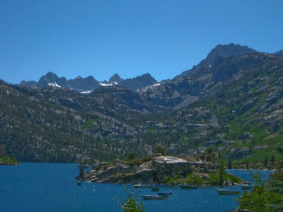 Lake Sabrina, 9128 ft. elevation