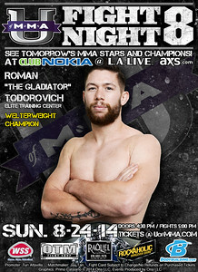 "Roman ""The Gladiator"" Todorovich, welterweight champion 2014"