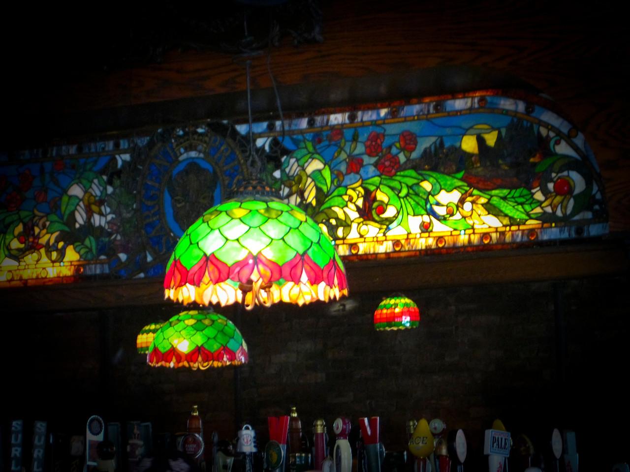 Nice looking Tiffany glass art