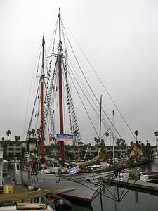 Bill of Rights - USA, Length Overall: 129', Beam: 23', Draft: 10', Sail Area: 6,300 sq. ft. Rig: Gaff topsail schooner, Built: 1971 South Bristol, Maine Home Port: Oxnard, California  http://americantallship.org/