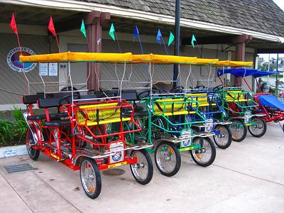 Fun carts at Channel Islands Harbor, Oxnard, California