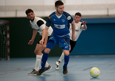 Vladimir Derendiajew of London Helvecia Futsal Club 6-2 Kettering Futsal Club. Futsal FA Cup Round match. Score Centre Leyton. 24.04.2017