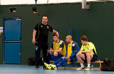 Leandro Afonso head coach of London Helvecia Futsal Club 6-2 Kettering Futsal Club. Futsal FA Cup Round match. Score Centre Leyton. 24.04.2017