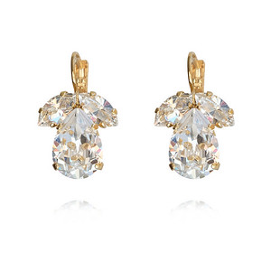 Timo Earrings / Crystal / Gold