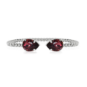Mini Drop bracelet / Burgundy / Rhodium