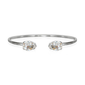 Petite Drop Bracelet / Crystal / Rhodium