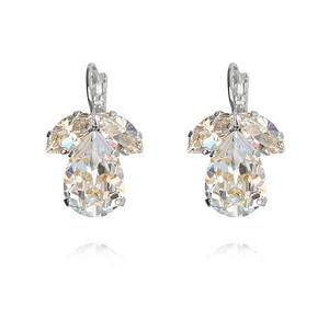 Timo Earrings / Crystal / Rhodium