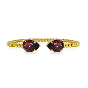 Mini Drop bracelet / Burgundy / Gold