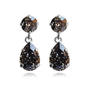 Mini Drop Earrings / Black Patina / Rhodium