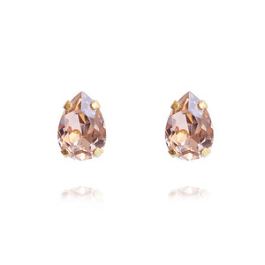 Petite Drop Stud Earrings / Vintage Rose Gold