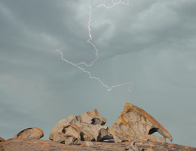 Lightning and Rocks