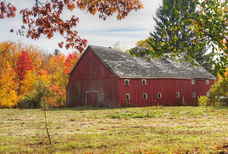 Red Barn in Fall