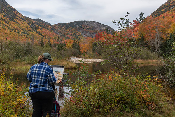 Plein Aire Painting in the Mountains