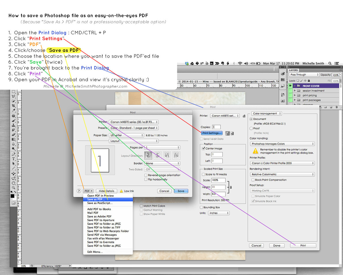 """The best way to """"PDF a file"""" in Photoshop"""