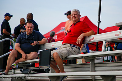 Spectators at Maureen Hendricks Field in Boyds, MD, on July 20, 2019 for the Washington Spirit match against the Houston Dash.