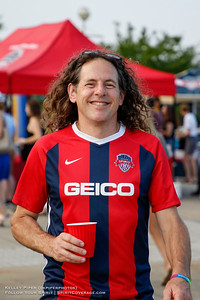 Spirit Squadron member at Maureen Hendricks Field in Boyds, MD, on July 20, 2019 for the Washington Spirit match against the Houston Dash.
