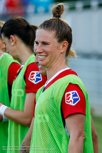 Washington Spirit defender Elise Kellond-Knight (28) at Maureen Hendricks Field in Boyds, MD, on July 20, 2019. This was Kellond-Knight's first game as a member of the Spirit.