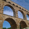 Gard river bridge - Pont du gard - South France