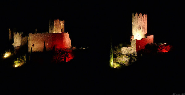 FZ50 - Lastours, Cathar Castle by Night (Sound and light) f/5.6 - 6s - 191 mm - 100 iso