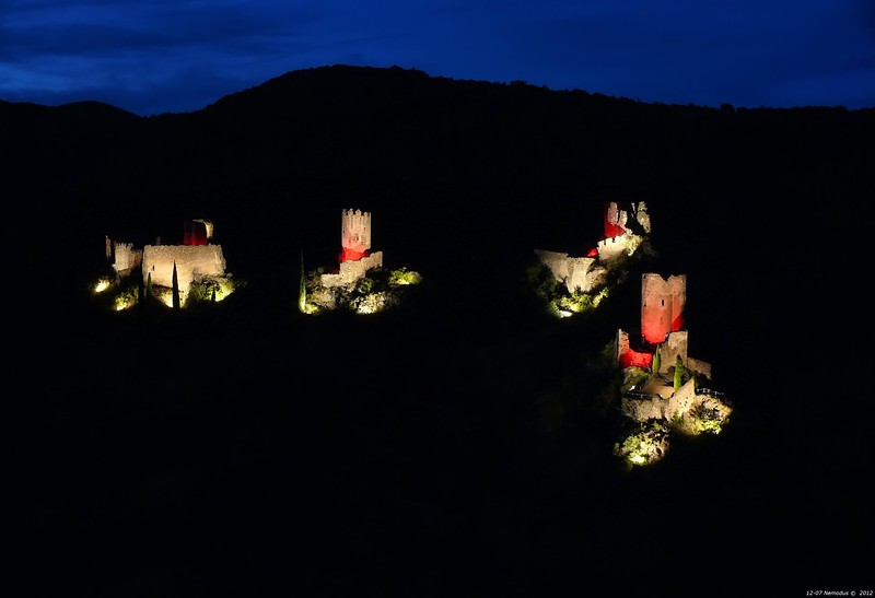 FZ50 - Lastours, Cathar Castle by Night (Sound and light)<br /> f/4.5 - 6s - 75 mm - 100 iso