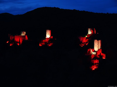 FZ50 - Lastours, Cathar Castle by Night (Sound and light) f/4.5 - 6s - 91 mm - 100 iso