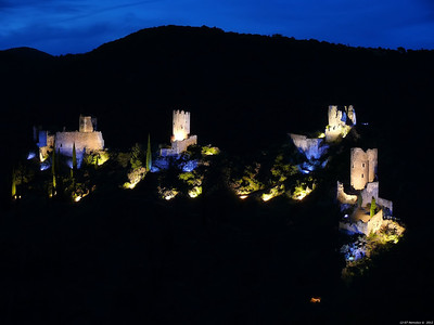 FZ50 - Lastours, Cathar Castle by Night (Sound and light) f/4.5 - 8s - 91 mm - 100 iso