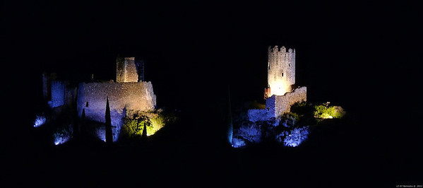 FZ50 - Lastours, Cathar Castle by Night (Sound and light) f/4.5 - 6s - 148 mm - 100 iso