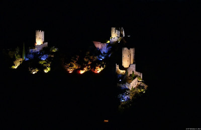 FZ50 - Lastours, Cathar Castle by Night (Sound and light) f/5.6 - 8s - 86 mm - 100 iso