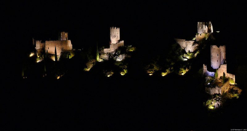 FZ50 - Lastours, Cathar Castle by Night (Sound and light)<br /> f/5.6 - 6s - 84 mm - 100 iso