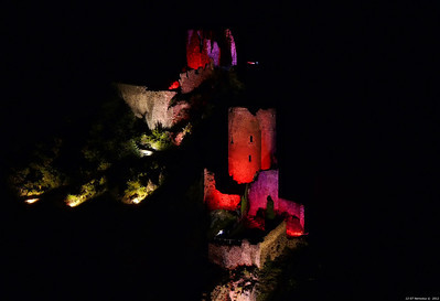 FZ50 - Lastours, Cathar Castle by Night (Sound and light) f/5.6 - 6s - 164 mm - 100 iso