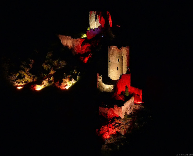 FZ50 - Lastours, Cathar Castle by Night (Sound and light)<br /> f/5.6 - 8s - 122 mm - 100 iso