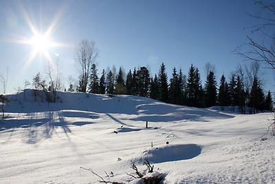 Vinterdag i februar med klar luft.