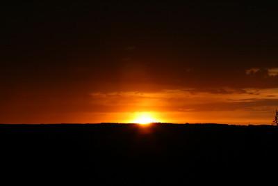 Solnedgang over Gaupen