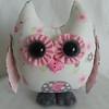 Baby Girl - Pink & Gray Jungle Owl $23 +shipping