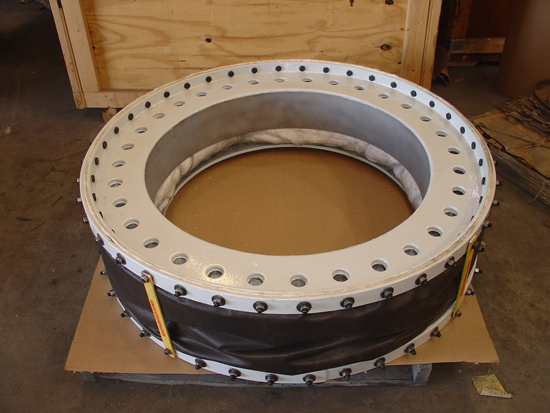 Specially designed round fabric expansion joint
